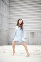 The pastel blue dress