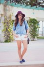 Navy-ocean-minded-shoes-ivory-abercrombie-and-fitch-shirt-white-levis-shorts