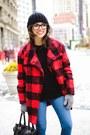 Red-shoppiin-coat-blue-ag-jeans-jeans-black-ted-baker-bag