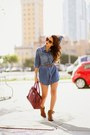 Brick-red-shoedazzle-shoes-blue-denim-black-orchid-dress