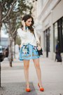 Red-spiegel-shoes-light-blue-romwe-dress-cream-forever-21-sweater