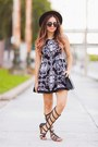 Black-gladiators-prima-dona-shoes-white-style-mafia-dress