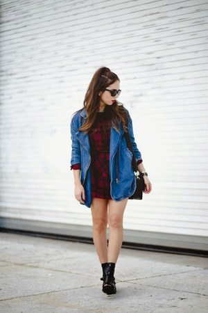 Blu Boutique jacket - Dr Martens shoes - Blu Boutique dress