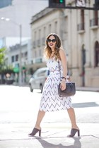 white beginning boutique skirt - black French Connection shoes