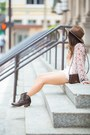 Dark-brown-ankle-boots-ariat-boots-dark-brown-fedora-revolve-clothing-hat
