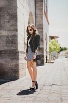white sam edelman shoes - black Bongo jacket - black Rebecca Minkoff bag