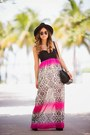 Black-ankle-guess-boots-hot-pink-maxi-skirt-trixxi-dress
