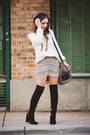 Black-guess-boots-light-purple-la-made-dress-white-forever-21-sweater