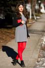 Black-vintage-boots-heather-gray-thrifted-vintage-dress