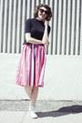 Black-forever-21-sunglasses-bubble-gum-vintage-skirt-black-wool-vintage-top
