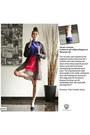 Blue-vintage-sweater-charcoal-gray-vintage-vest-hot-pink-vintage-skirt
