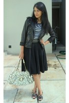 black ribbonshop jacket - black Arizona t-shirt - black skirtorama skirt - black