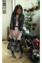 silver - - black Bonia purse - -