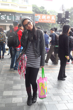 Zara boots - From Baguio hat - Zara jacket - Uniqlo leggings - H&M purse