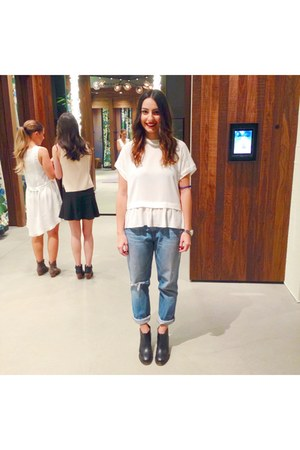Rachel Comey boots - J Brand jeans - wilfred blouse