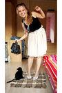 Black-miss-selfridge-top-beige-vintage-skirt-black-mums-purse-white-coolgi