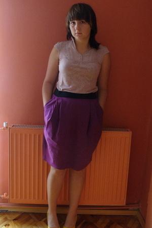 pink reserved blouse - purple Vero Moda skirt