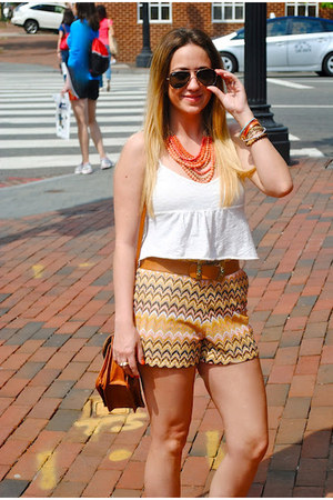 Ark & Co shorts - self-cropped Forever21 shirt - Ray Ban sunglasses