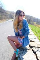 Converse shoes - H&M dress - Aldo sunglasses - JCrew top - asos bracelet