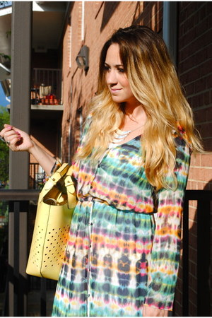 maxi Zara dress - light yellow leather Zara purse