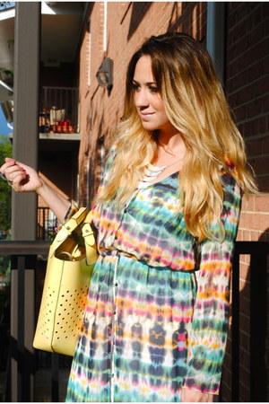 maxi Zara dress - light yellow leather Zara purse