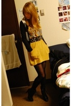 American Apparel skirt - payless boots - Aldo belt - Old Navy top - Club Monaco