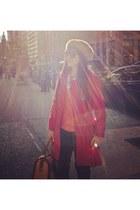 zebra Anna Dello Russo x H&M bracelet - fur vintage hat - coral H&M sweater