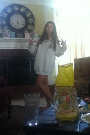 silver thrift hoodie