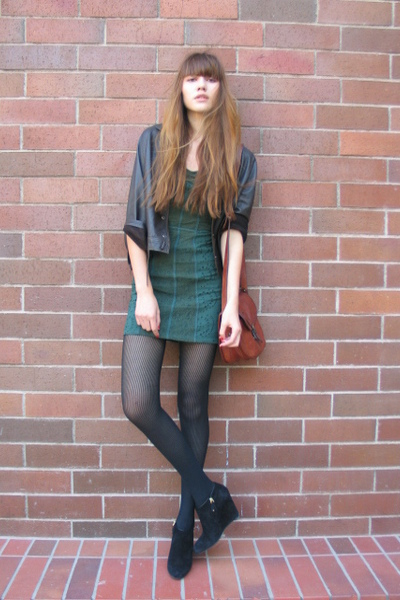 The Free People - vintage jacket - free people dress - unknown tights - Bally shoes - natalieoffduty's blog  - Chictopia