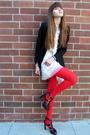 Black-express-blazer-white-eli-tahari-dress-red-we-love-colors-tights-blac