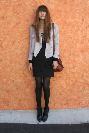 Crispin & Basilio jacket - H&M dress - Aldo boots - vintage purse