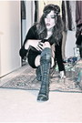 Black-lace-up-steve-madden-boots-black-unknown-dress