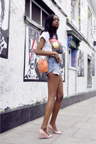 orange Angel Jackson bag - sky blue Urban Outfitters shorts