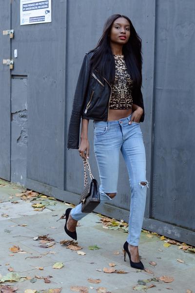 black Topshop jacket - light blue AND Clothing jeans