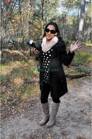 acrylic H&M scarf - faux suede Forever 21 boots - cotton elastane Vila dress