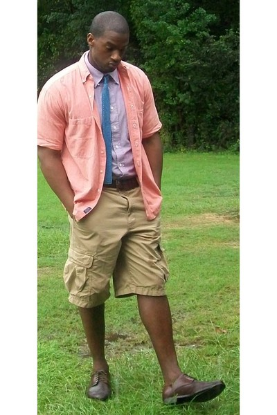Gant shirt - stafford shirt - tie - Gap shorts - shoes