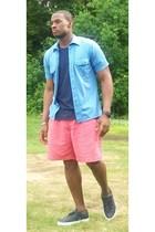 Polo t-shirt - christian dior shirt - Polo shorts - Clae shoes