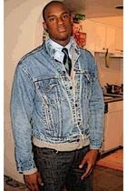 Levis jacket - Penguin Classics tie - Levis jeans