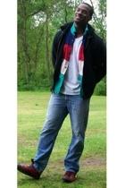 banana republic jacket - 955 Originals shirt - Levis jeans - Converse shoes