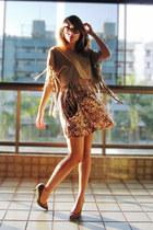 tan Marisa shirt - light pink Zara skirt - tawny Zara pumps
