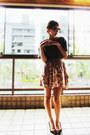 Black-schutz-shoes-blue-zara-shirt-bubble-gum-zara-skirt