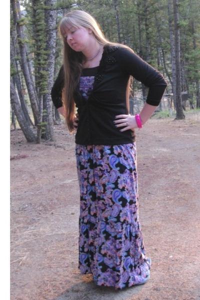 Violet Macys Dresses, Black Maurices Cardigans | \