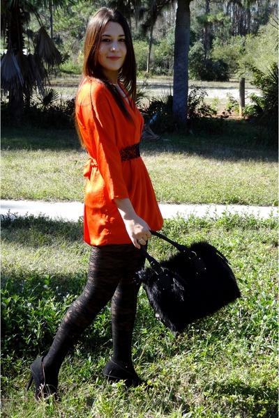 H&m Dress Black Floral
