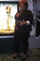 Bryant blazer - torrid leggings - torrid shoes - ashley stewart purse