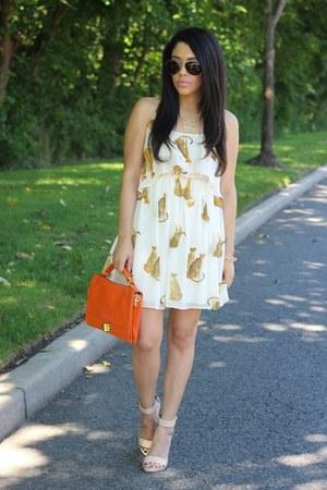 Olivia  Joy bag - Indulgera dress - lucite Love Culture heels