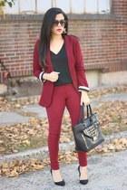 Charlotte Russe blazer - brick red skinny jeans Habitual jeans