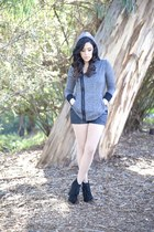 Steve Madden boots - BB Dakota sweater - Shop Excess Baggage shorts