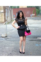 F&W Style bag - peplum Forever21 dress - heart Forever21 belt - Forever21 heels
