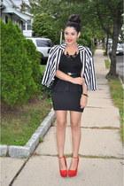Forever21 blazer - Forever21 belt - H&M skirt - Steve Madden heels