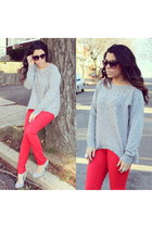 Forever21 sweater - H&M pants - Mandee heels